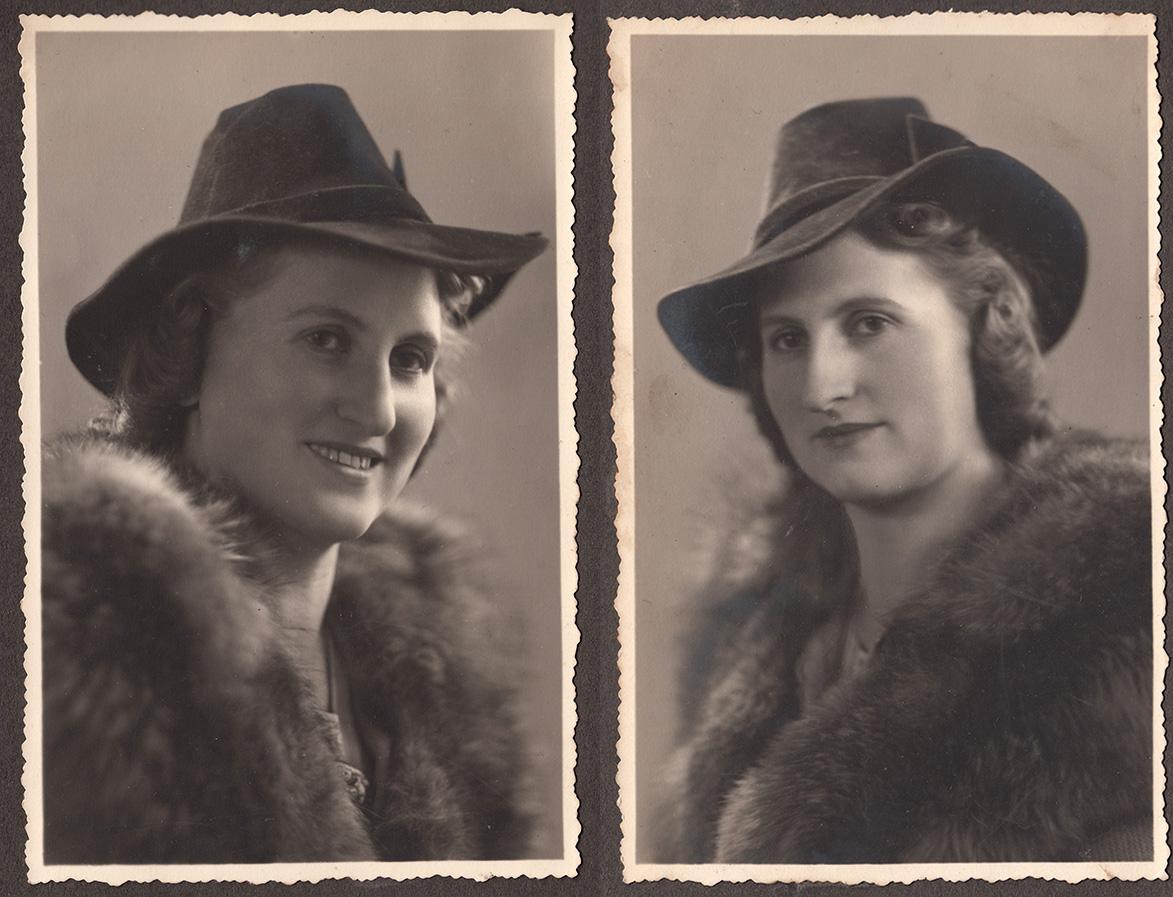 Anna Eychler, z domu Czerwińska na fotografiach siostry - ok. 1940